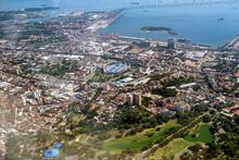 Aerial View Of The São Cristóvão Neighborhood And The Port Of Rio De Janeiro Nearby Guanabara Bay
