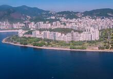 Aerial View Of Flamengo Beach - Guanabara Bay, Rio De Janeiro. Jan 2017