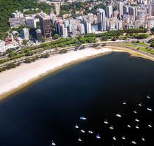 Aerial View Of Botafogo Beach In Guanabara Bay. Rio De Janeiro City. Jan 2017