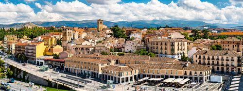 Panorama of the Old Town of Segovia in Spain