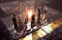 Metallic Futuristic City Proto...