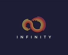 Minimal Infinity Logo Template - Vector Illustration