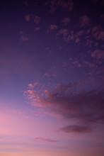 BEAUTIFUL Sunset With Purple Sky And Few Clouds