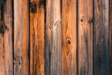 Bright Wooden Fence In London