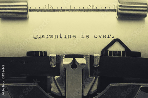Quarantine is over Wallpaper Mural