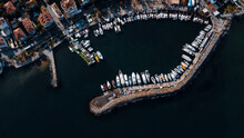 Top-view Of The Boat Parking In Marina Of Istanbul