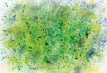 Colorful Abstract Green Painting.
