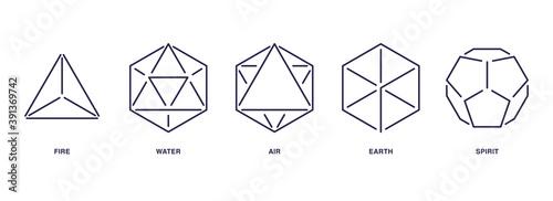 Obraz na plátně Set of Mystic Esoteric Symbols