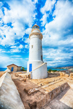Beautiful Landscape With Lighthouse In Hdr