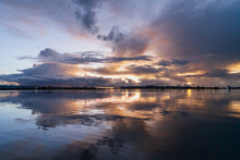 A Sunrise On Titikaka Lake