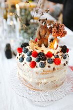 One Year Old Birthday Cake Woodland Theme