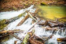 Nature Background Of Waterfall...