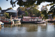 A Houseboat On The River Thames