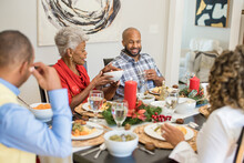 Black Family Eating Christmas ...