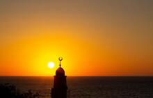 Minaret Tower Sea Sunset Relig...