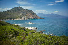 A Jagged Coastline In Sardinia