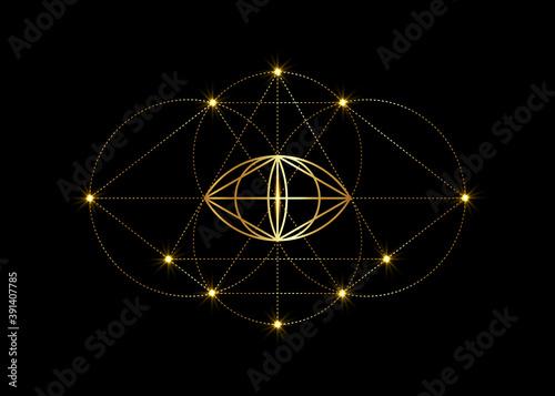 Платно Vesica piscis gold Sacred geometry