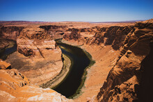 Horseshoe Bend On Colorado River In Glen Canyon. Extreme Vacations Outdoor. Canyon American National Park.
