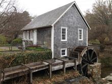 Old Wooden Waterwheel House