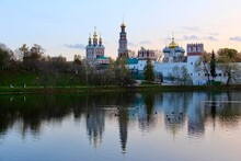 Novodevichy Convent And The Pond Nearby - Pre-sunset Reflections