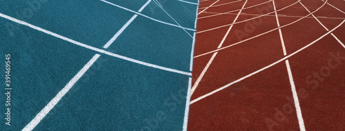 white line blue red of racing sport track banner background Fototapete