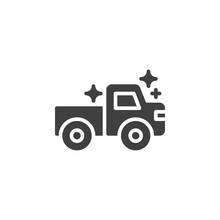 Toy Truck Vector Icon. Filled Flat Sign For Mobile Concept And Web Design. Dump Truck Glyph Icon. Symbol, Logo Illustration. Vector Graphics