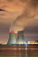 Riverbank With Nuclear Power P...