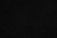 Black Fabric Texture - Close-u...