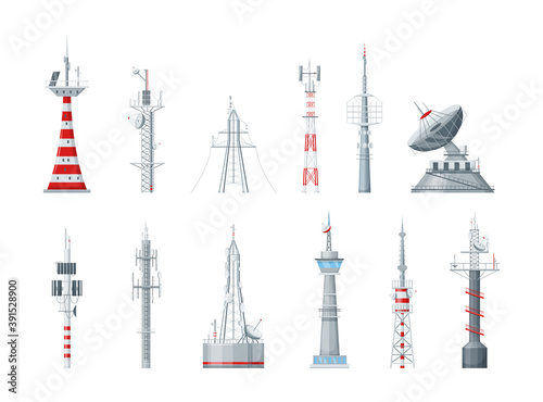Fotomural Communication towers set