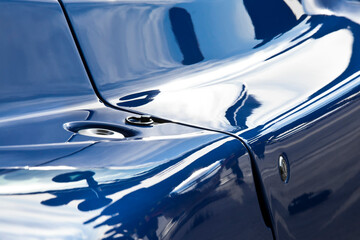 Abstract detail of bodywork on sports car