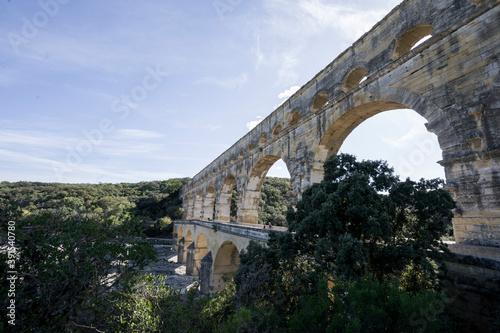 Pont du gard bridge roman france Canvas