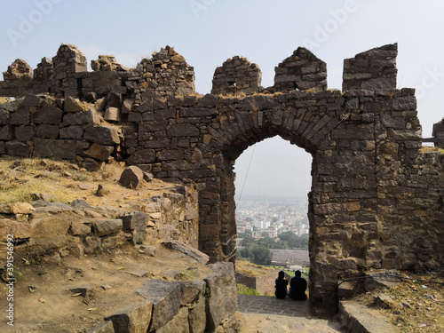 Canvas Print Golconda Fort in Hyderabad city India