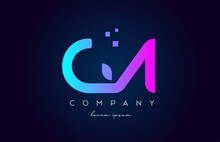 GA G A Alphabet Letter Logo Icon Combination. Creative Design For Company And Business In Blue Pink Colours