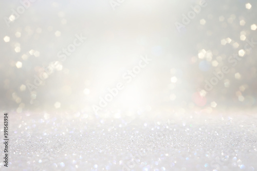 Obraz glitter vintage lights background. silver, gold and white. de-focused - fototapety do salonu