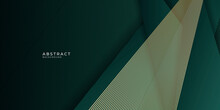 Green Gold Abstract Luxury Background. Vector Illustration Design For Presentation, Banner, Cover, Web, Flyer, Card, Poster, Wallpaper, Texture, Slide, Magazine
