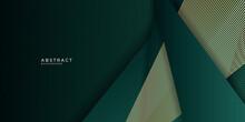 Green Gold Abstract Presentation Background With Golden Lines. Vector Illustration Design For Presentation, Banner, Cover, Web, Flyer, Card, Poster, Wallpaper, Texture, Slide, Magazine