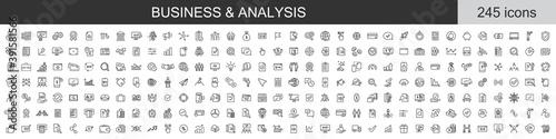 Fotografie, Obraz Big set of 245 Business and Analysis icons