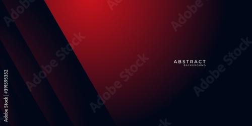 Obraz Abstract black grey metallic overlap red light hexagon mesh design modern luxury futuristic technology background vector illustration.  - fototapety do salonu
