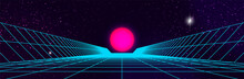 Synthwave Background. 80s Retr...