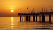 Bridge In A Yellow Sunset