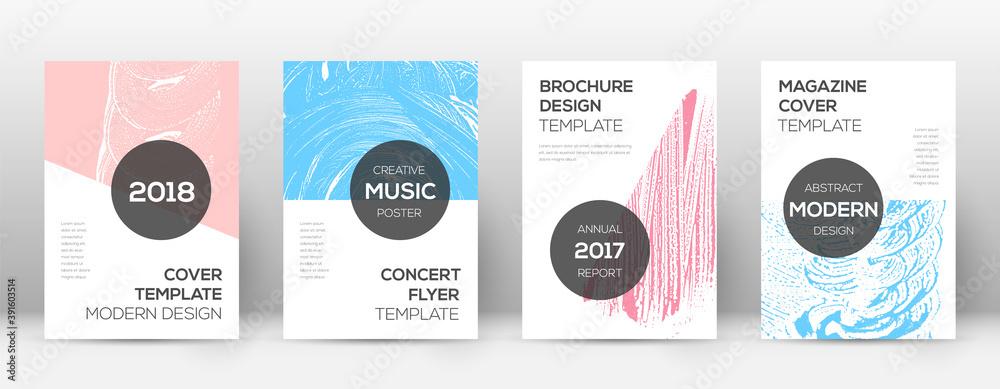 Fototapeta Cover page design template. Modern brochure layout