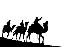 Silhouettes Of Wise Men Star
