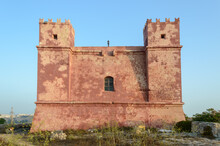 Shot Of The Saint Agatha Red Tower In Malta