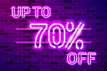 UP TO 70 Percent OFF Glowing Purple Neon Lamp Sign