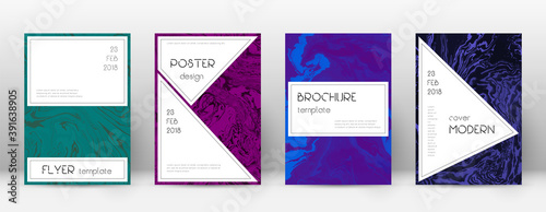 Abstract cover. Cute design template. Suminagashi Fototapet