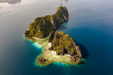 Aerial View Of Karst Island An...
