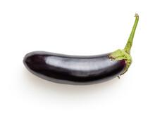 Isolated Eggplant On White Bac...
