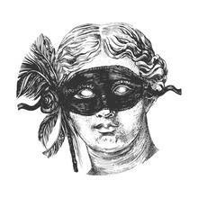 Aphrodite Head In Festive Mask