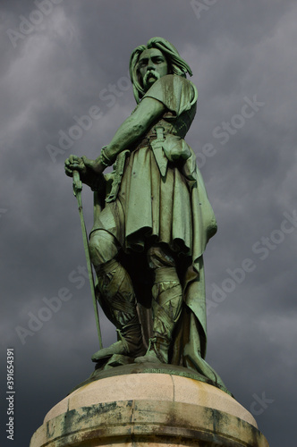 Fotografie, Obraz Vertical shot of the Vercingetorix Monument captured in Burgundy, France