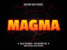 Editable Text Effect - Hot Magma Orange And Yellow Color Gradient Modern Style